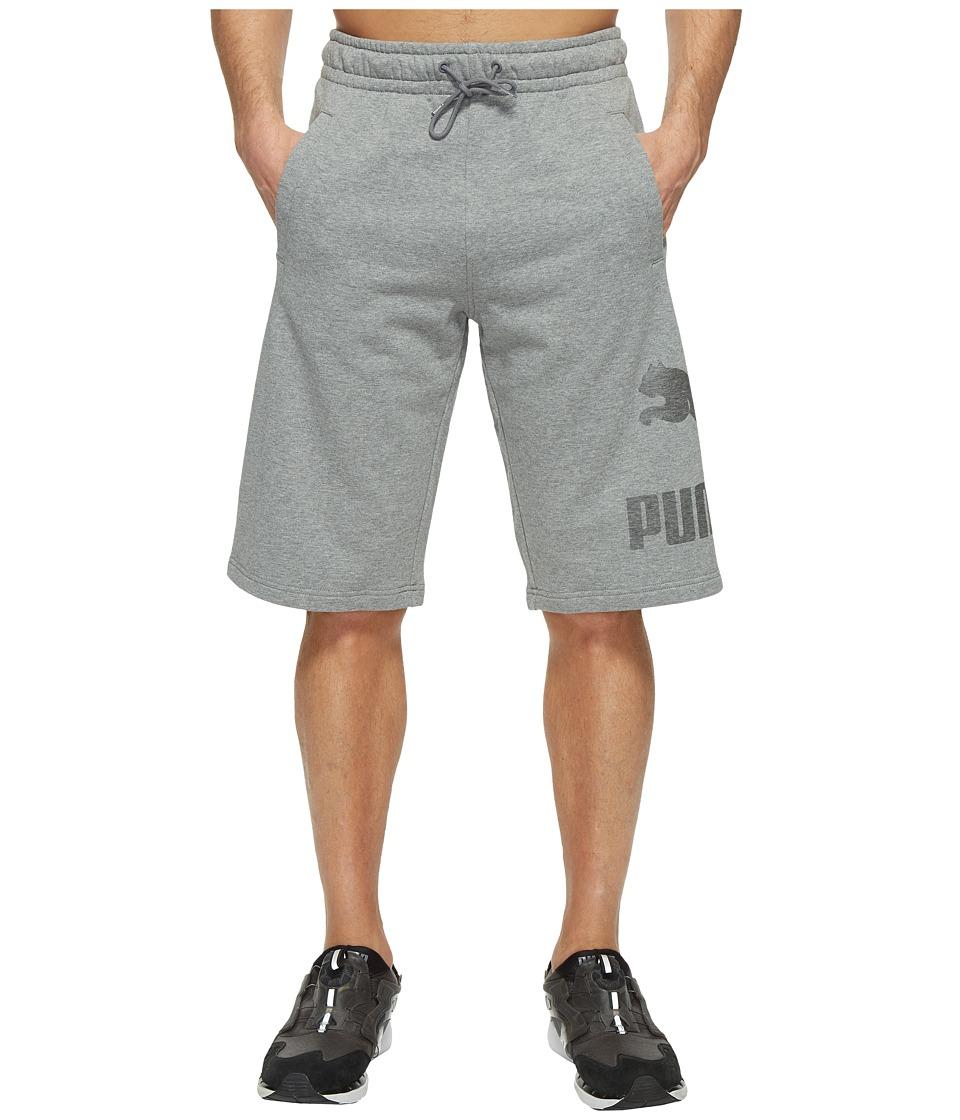 PUMA Archive Logo Sweat Bermudas (Medium Gray Heather) Men