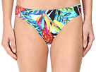 LAUREN Ralph Lauren Rainforest Tropical Print Hipster Bottom w/ Classic Logo Plate