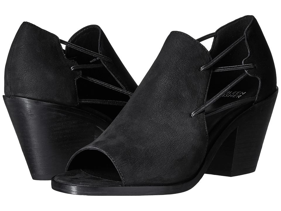 Eileen Fisher Nikki (Black Tumbled Nubuck) High Heels