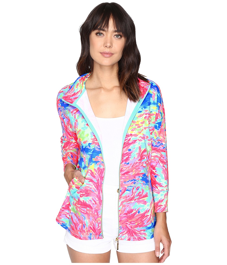 Lilly Pulitzer Deedee Swing Jacket (Multi Palm Beach Coral) Women