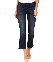 KUT from the Kloth - Reese Crop Flare Jeans in Security w/ Euro Base Wash