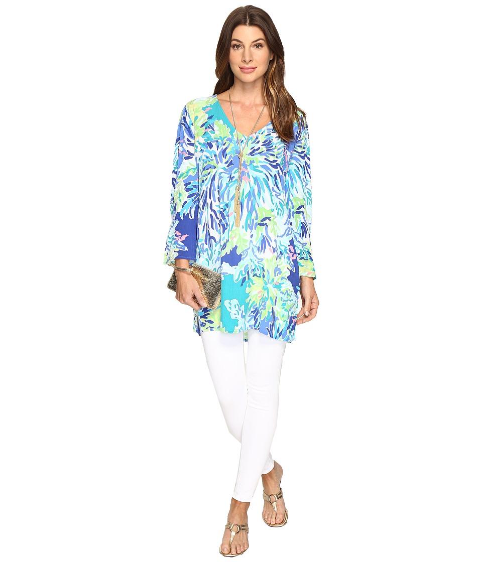 Lilly Pulitzer Lantana Beach Tunic (Brilliant Blue Wade a...