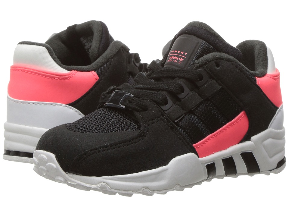adidas Originals Kids EQT Support (Toddler) (Core Black/Core Black/Turbo) Girls Shoes