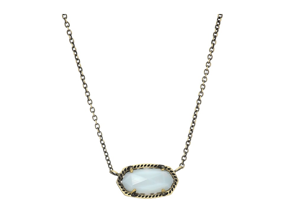 Kendra Scott - Elisa Necklace (Antique Brass/White Banded Agate) Necklace