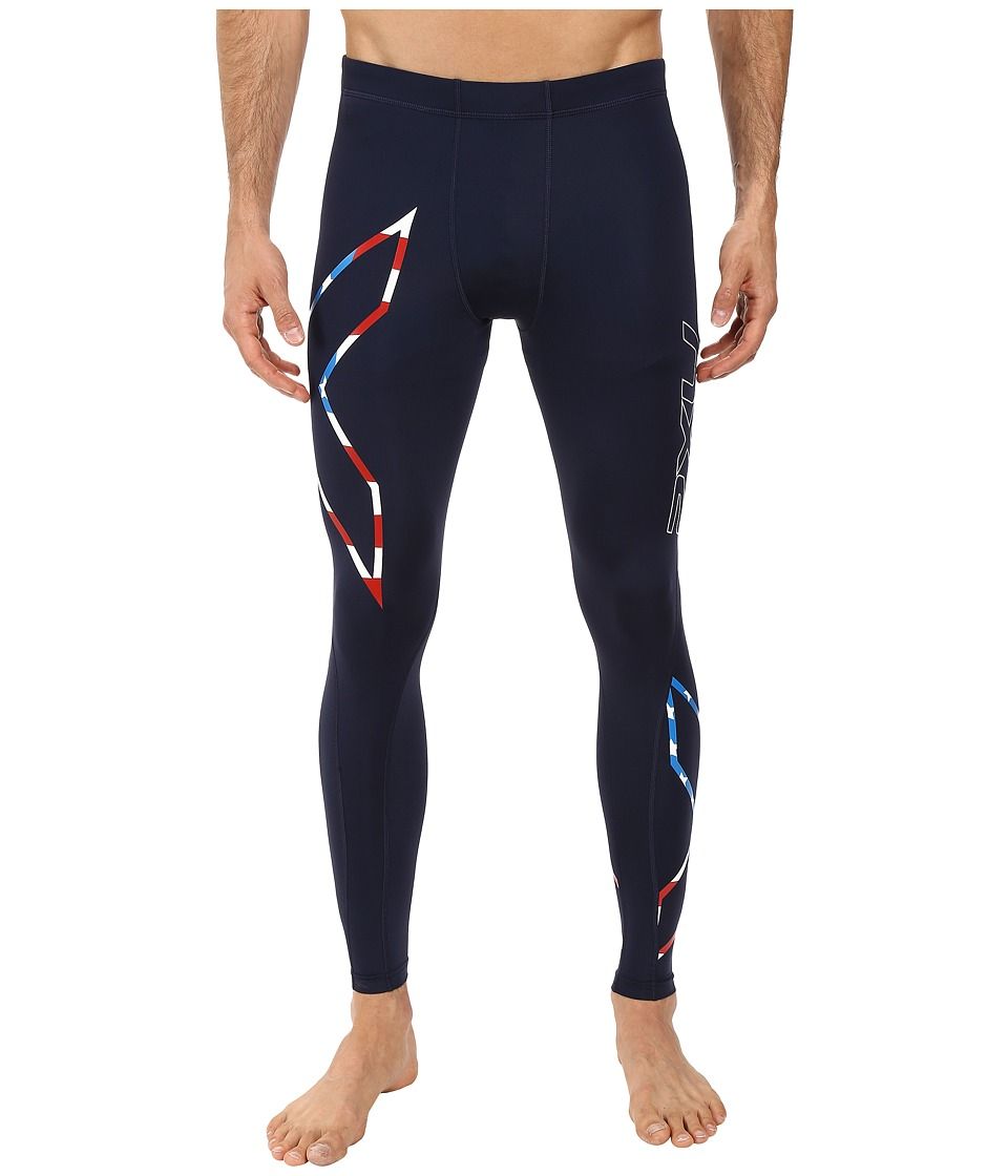 2XU Core Compression Tights (Navy/Stars