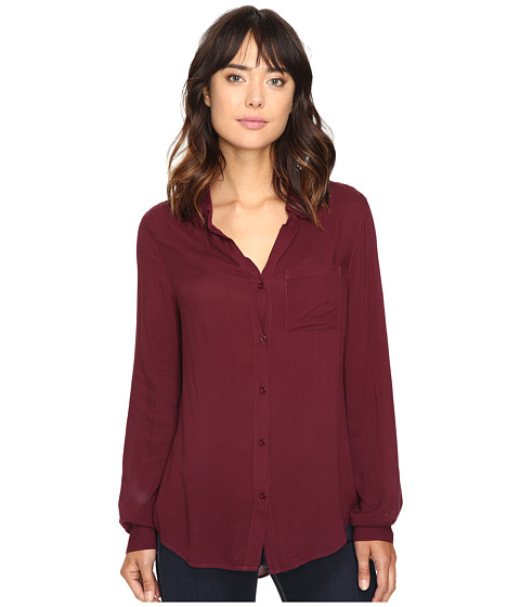 Dylan by True Grit Soft Classic Blouse - Claret