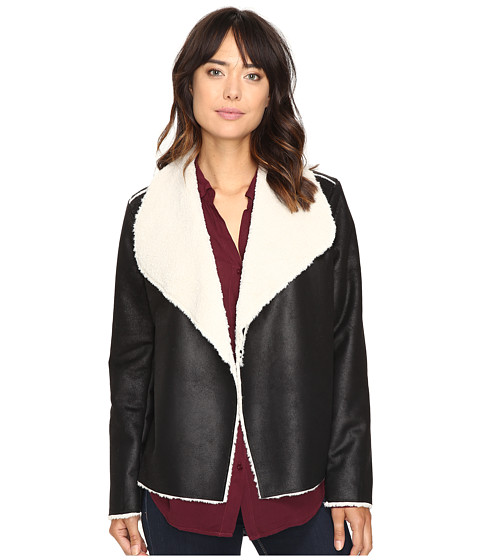Dylan by True Grit Shearling Bowie Jacket - Black/Natural