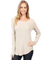 Dylan by True Grit - Softest Slub Waffle Long Sleeve Seamed Thermal Crew