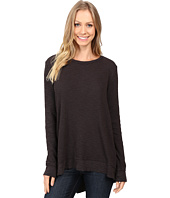 Dylan by True Grit - Softest Slub Waffle Long Sleeve Asymmetrical Top