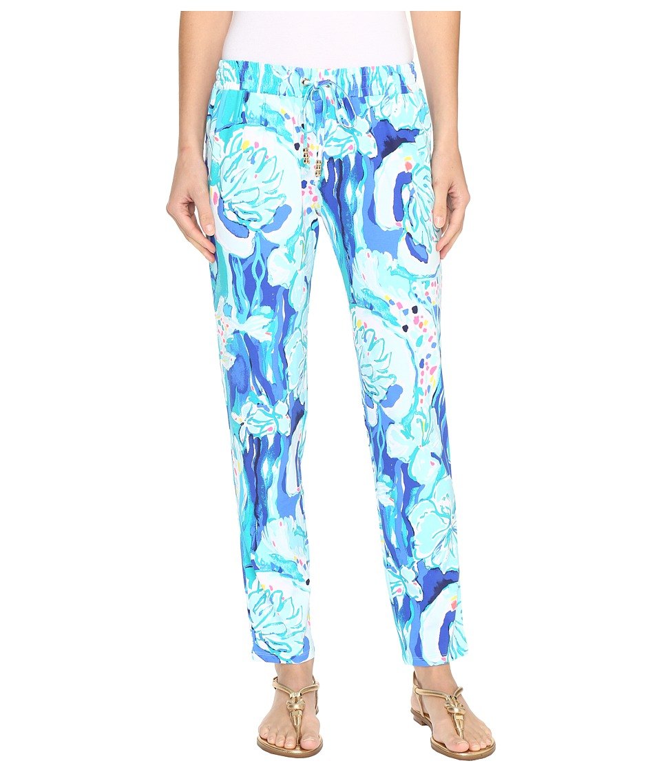 Lilly Pulitzer Lola Pants (Brilliant Blue Aquatic Garden)...