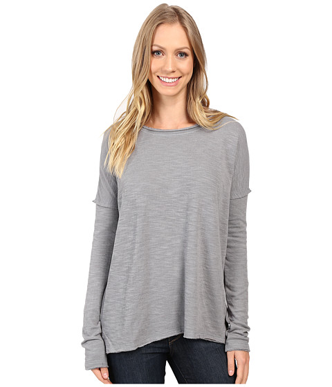 Dylan by True Grit Bonded Soft Slub and Soft Knit Drop Shoulder Seam Tee