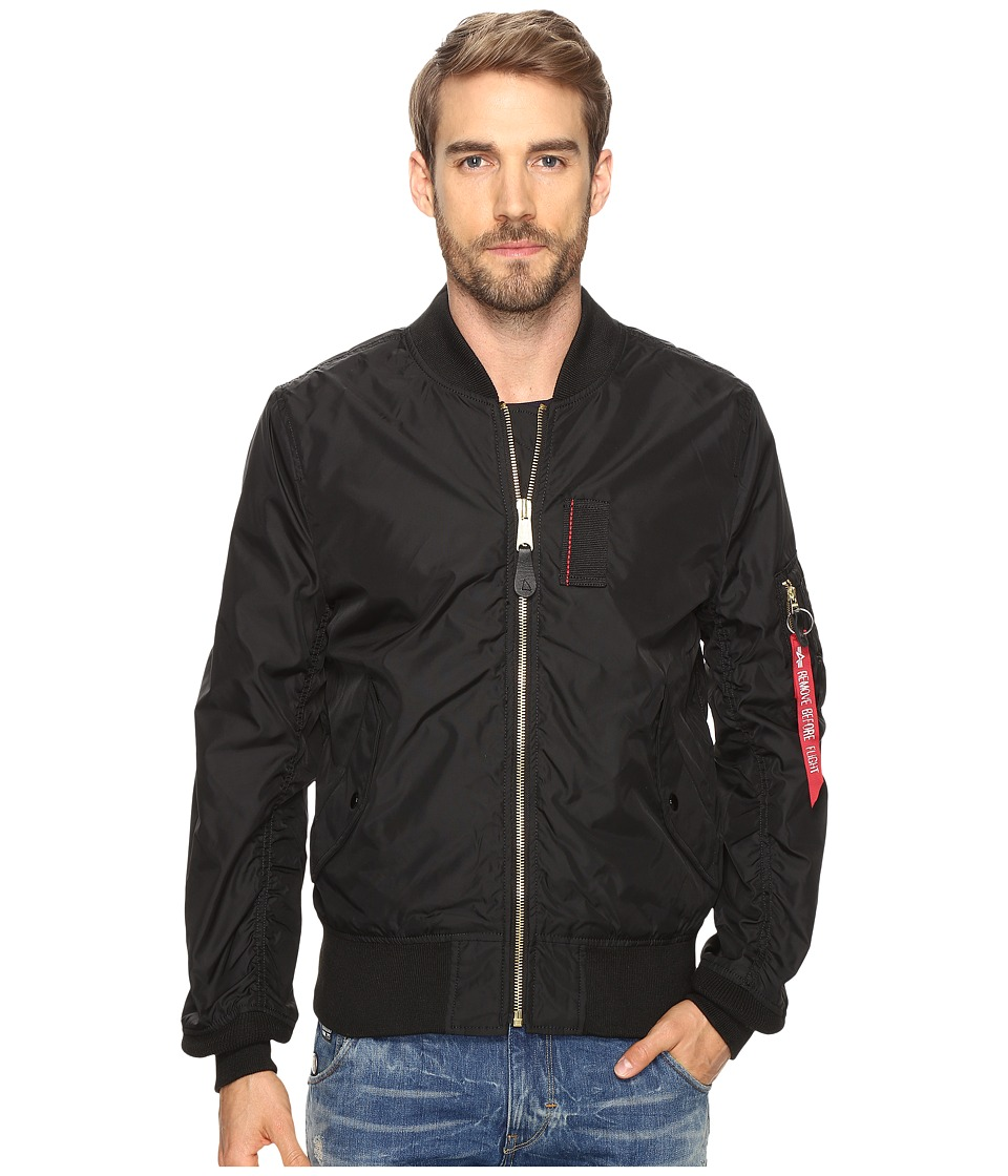 Alpha Industries - MA-1 Skymaster Flight Jacket (Black) Mens Coat