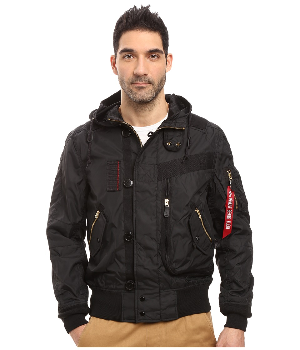 Image of Alpha Industries - Helo Bomber Jacket (Black) Men's Coat