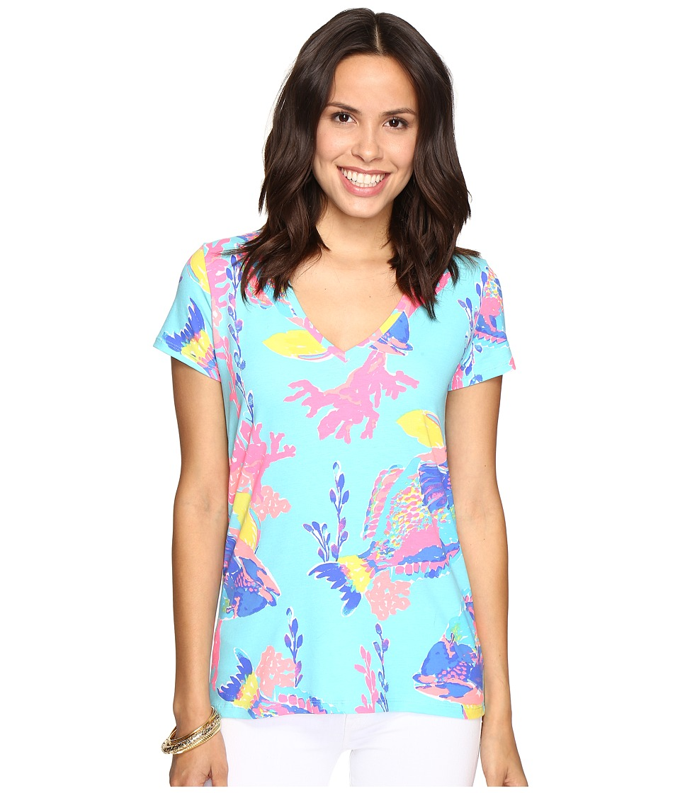 Lilly Pulitzer Michele Top (Shorely Blue Sandstorm) Women