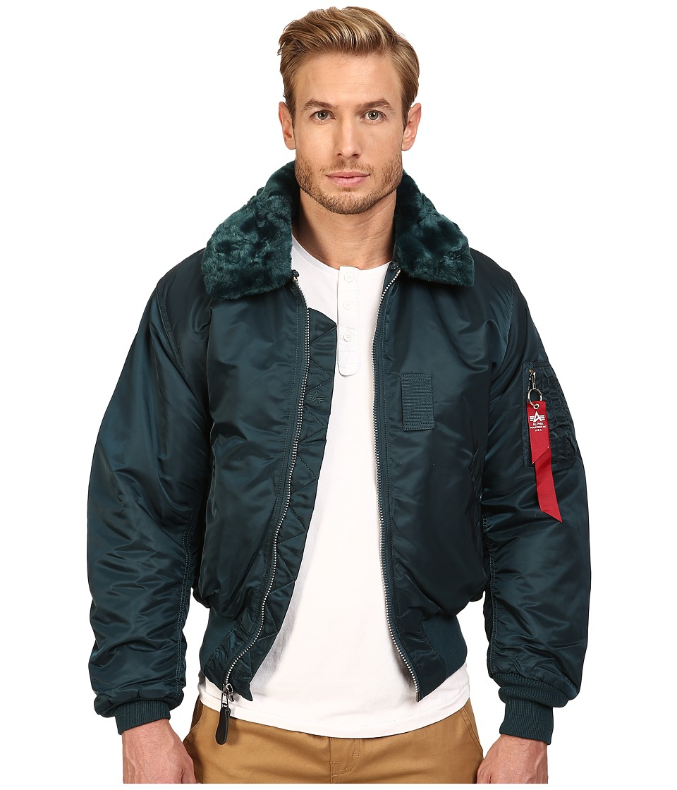 Image of Alpha Industries - B-15 Flight Jacket (Navy) Men's Coat