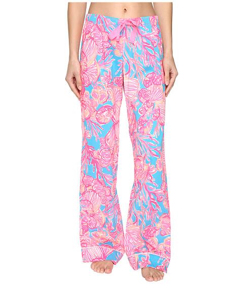 Lilly Pulitzer Pajama Pants - Sparkling Blue Fan Tastic
