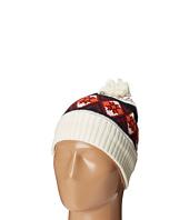 San Diego Hat Company - KNH3411 Intarsia Print Beanie with Pom Pom and Cuff