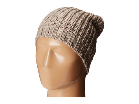 San Diego Hat Company KNH3429 Solid Knit Rib Beanie with Ribbed Opening - Grey