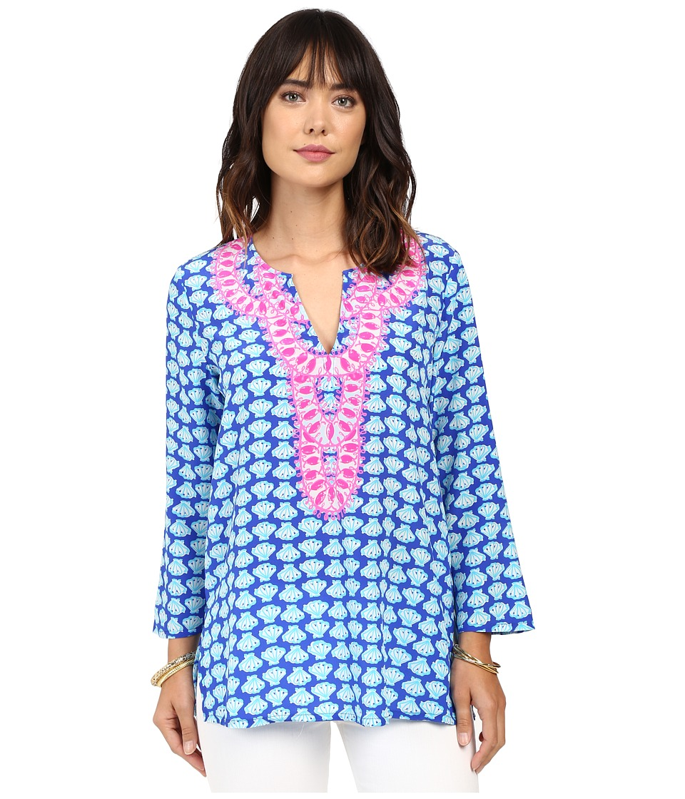 Lilly Pulitzer Renato Tunic (Brilliant Blue Tripped Out D...