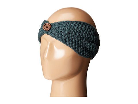 San Diego Hat Company KNH3440 Cable Knit Headband with Wood Button - Green