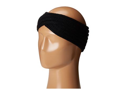 San Diego Hat Company KNH3444 Overlap Knit Headband - Black