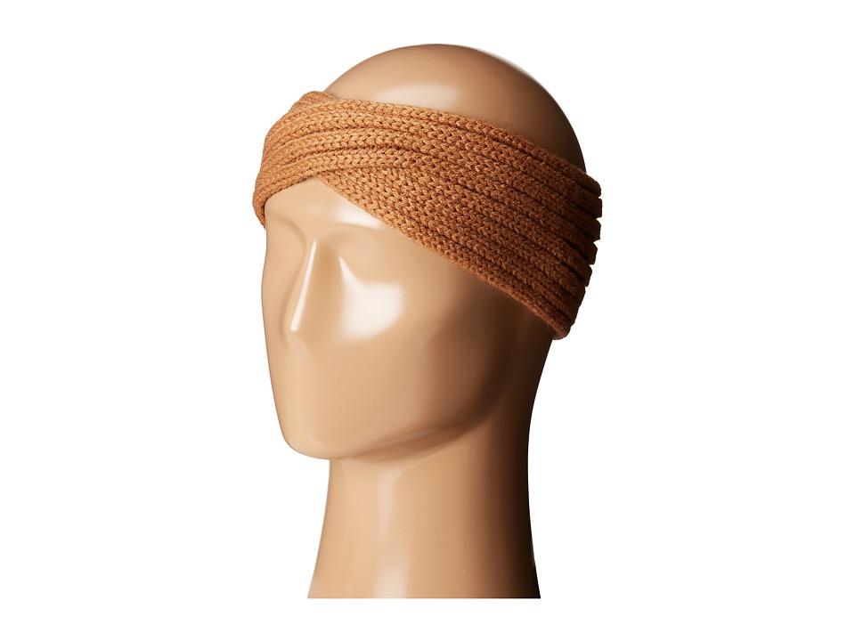 San Diego Hat Company - KNH3444 Overlap Knit Headband (Camel) Headband