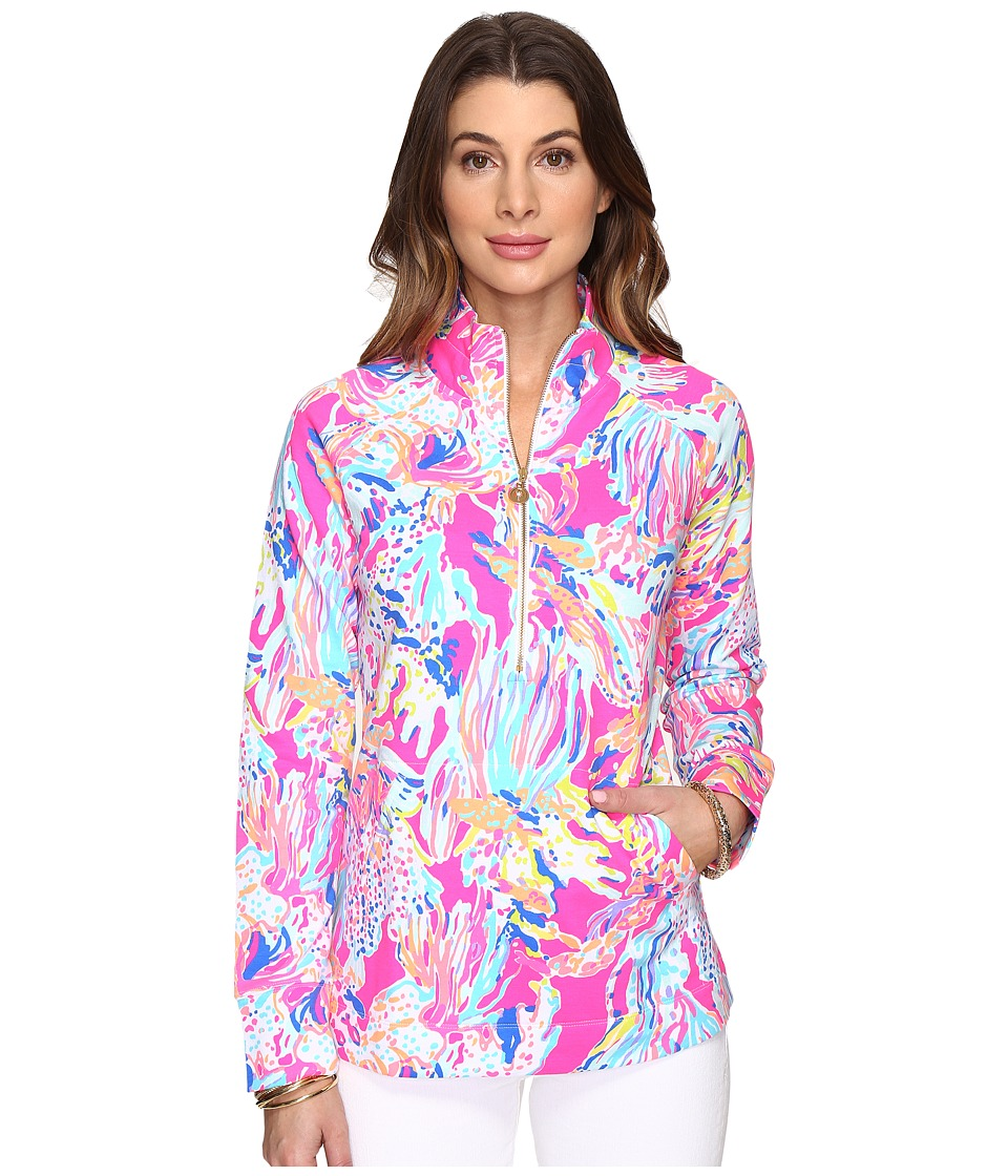 Lilly Pulitzer Skipper Popover (Tiki Pink Sunken Treasure) Women