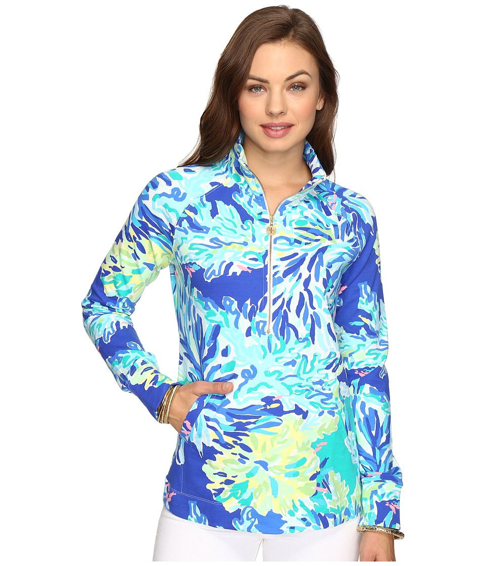 Lilly Pulitzer Skipper Popover (Brilliant Blue Wade and Sea) Women