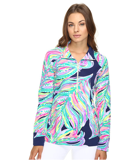 Lilly Pulitzer Skipper Popover - Bright Navy Dont Leave Me Hanging