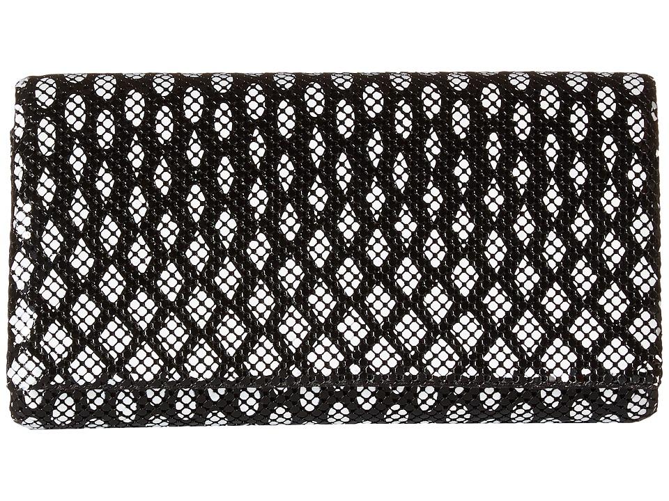 Jessica McClintock - Cassie Clutch (Black/White) Clutch Handbags