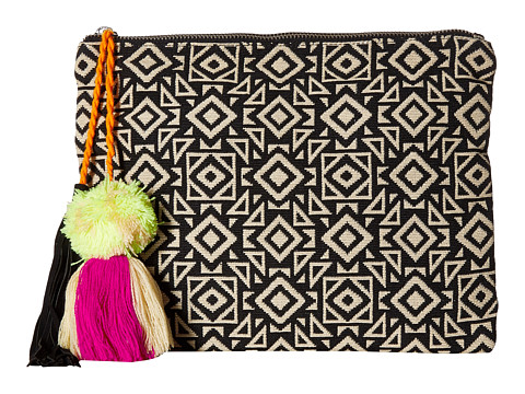 San Diego Hat Company BSB1696 Woven Pattern Canvas Clutch - Geo