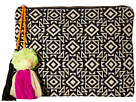 BSB1696 Woven Pattern Canvas Clutch