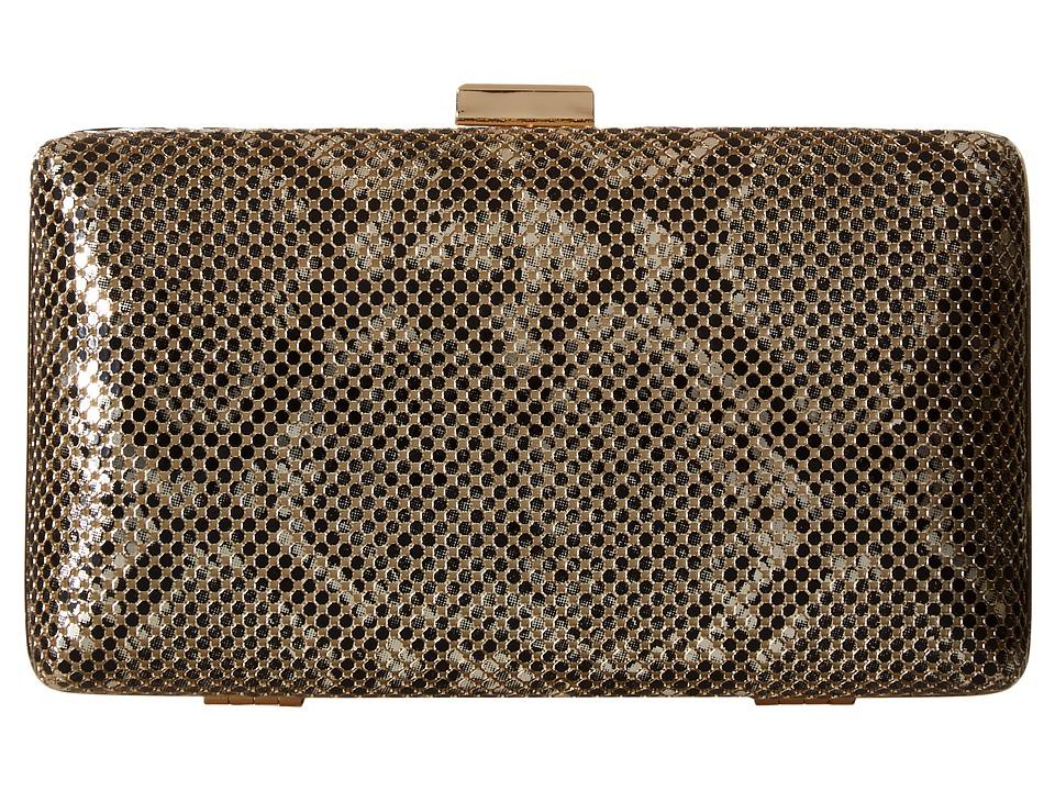 Jessica McClintock - Noelle Snake Print Clutch (Light Gold) Clutch Handbags