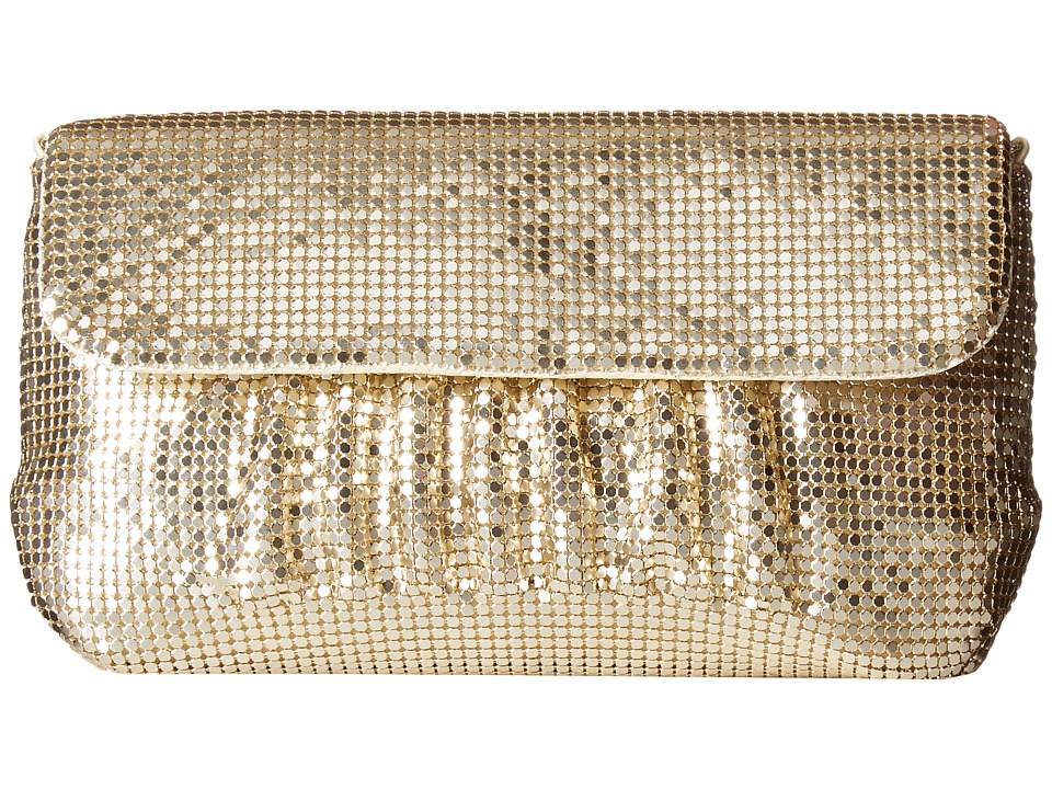 Jessica McClintock - Danielle Mesh Clutch (Light Gold) Clutch Handbags