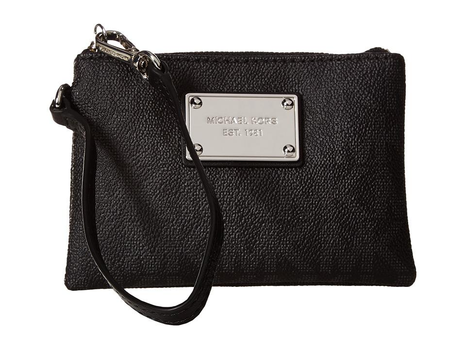 MICHAEL Michael Kors - Jet Set Item Small Wristlet (Black) Wristlet Handbags