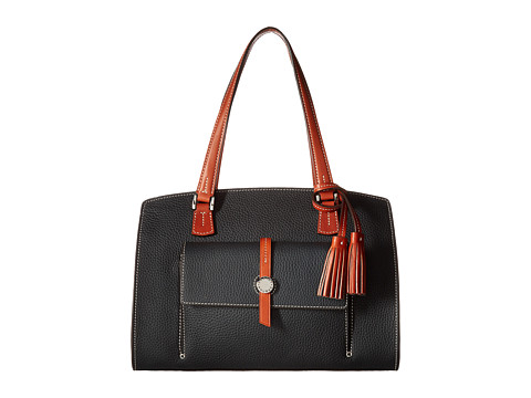Dooney & Bourke Cambridge Shoulder Bag - Black/Tan Trim