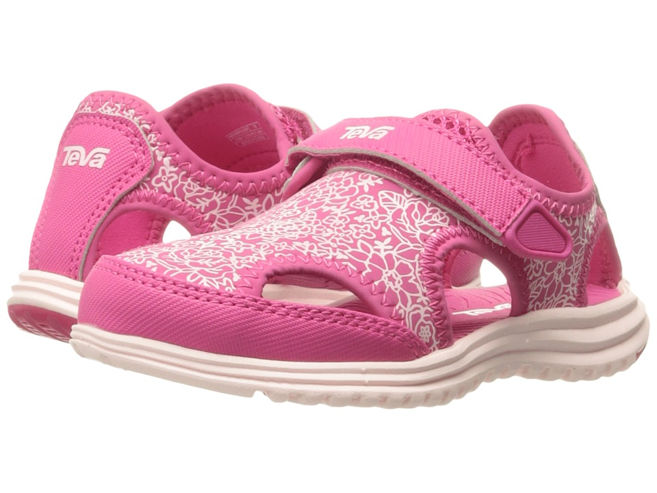 Teva Kids Tidepool Sport (Toddler) (Pink/White Print) Girls Shoes