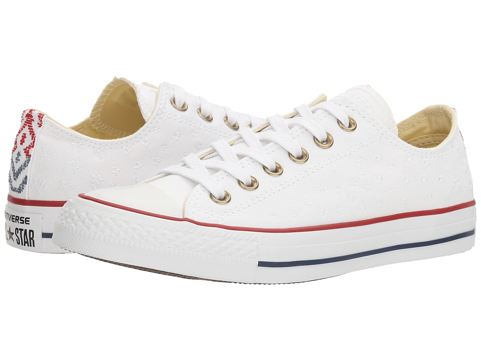 Converse Chuck Taylor All Star Festival Embroidered Ox (White/Casino/White) Women
