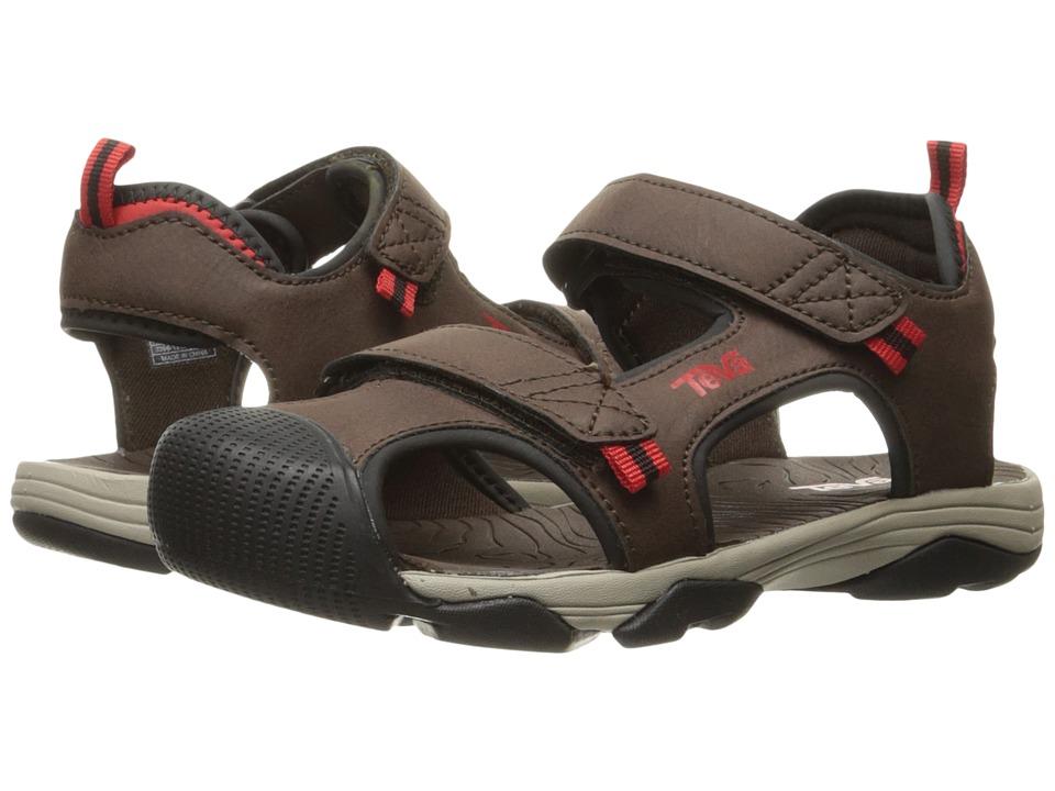 Teva Kids Toachi 4 (Little Kid/Big Kid) (Chocolate/Black/Red) Boys Shoes