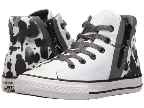 Converse Kids Chuck Taylor All Star Sport Zip Hi (Little Kid/Big Kid) - White/Black/White