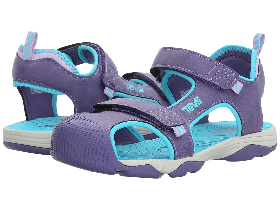 Teva Kids - Toachi 4 (Little Kid/Big Kid) (Purple/Scuba Blue) Girls Shoes