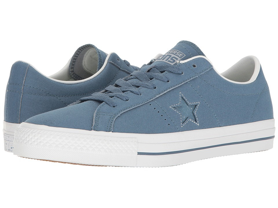 Converse Skate One Star Pro Ox Suede Backed Canvas (Blue Coast/Blue Granite/White) Men