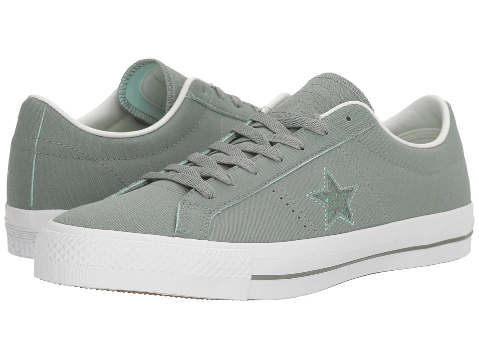 Converse One Star Pro Ox Suede Backed Canvas (Camo Green/Green Glow/White) Men