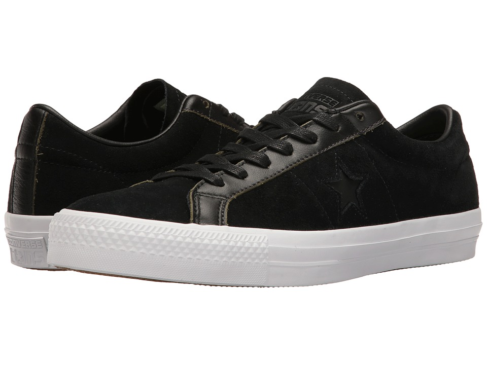 Converse Skate One Star Pro Ox Rub Off Leather (Black/White/Black) Men