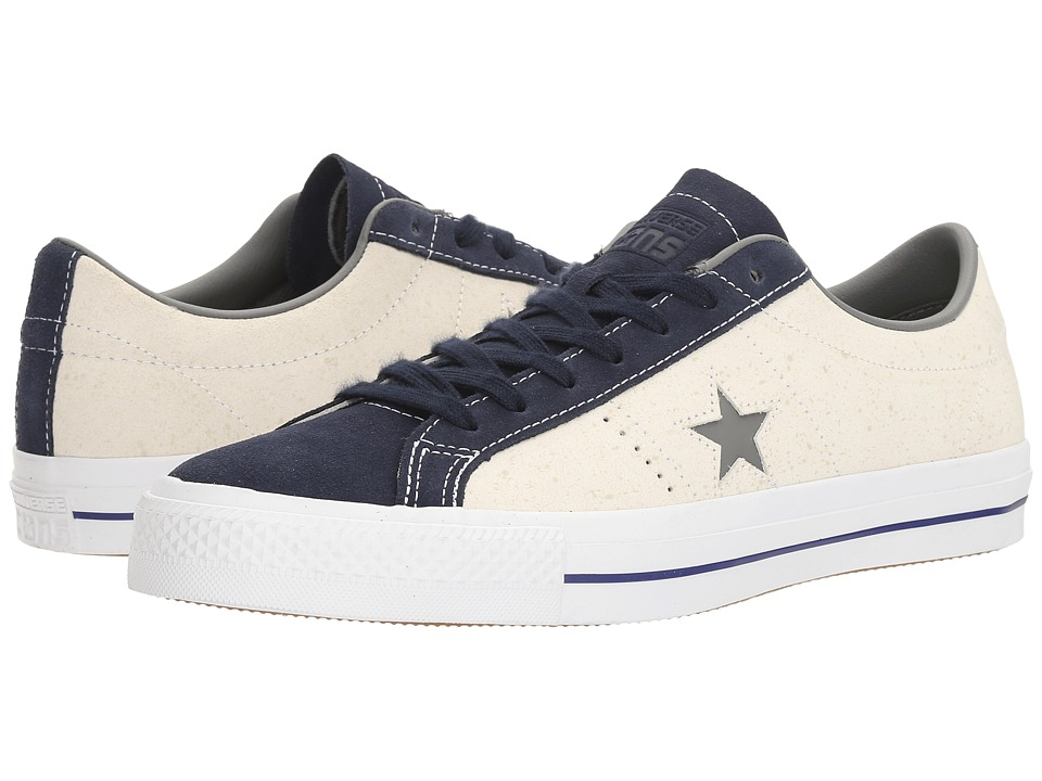 Converse Skate One Star Pro Peppered Leather (White/Obsidian/White) Men