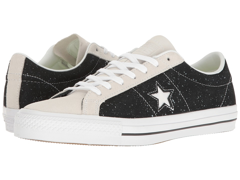 Converse Skate One Star Pro Peppered Leather (Black/White/White) Men