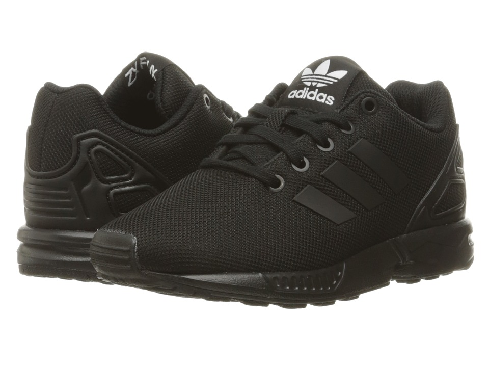 adidas Originals Kids ZX Flux EL (Little Kid) (Core Black/Core Black/Core Black) Boys Shoes