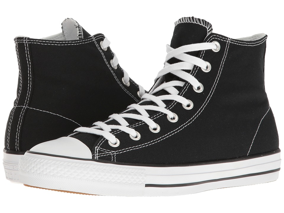 Converse Chuck Taylor All Star Pro Rubber Infused Canvas Hi (Black/White/Black) Men