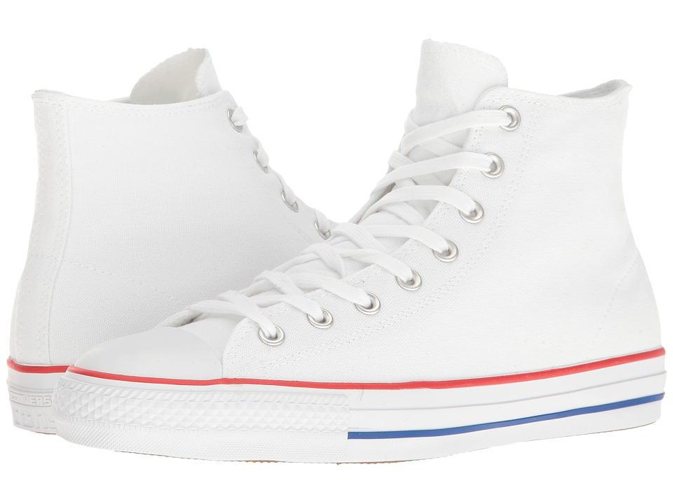 Converse Chuck Taylor All Star Pro Rubber Infused Canvas Hi (White/Red/Blue) Men