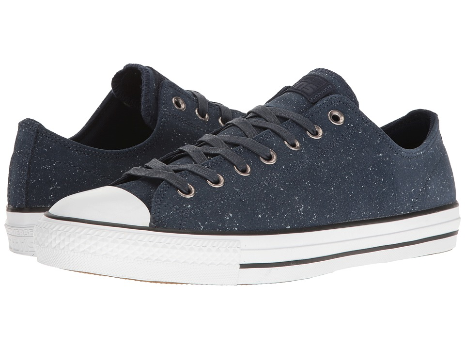 Converse Chuck Taylor All Star Pro Peppered Suede Ox (Obsidian/White/Obsidian) Men